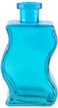 8.5 oz. Aqua Blue Wave Glass Bottle
