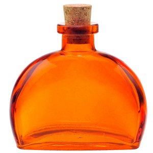 6 oz. Orange Fiji Glass Bottle