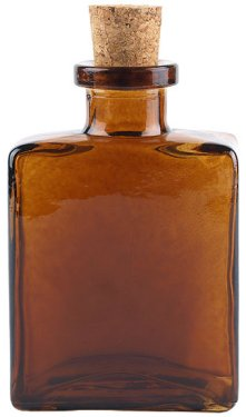 4.5 oz. Dark Amber Rio Glass Bottle